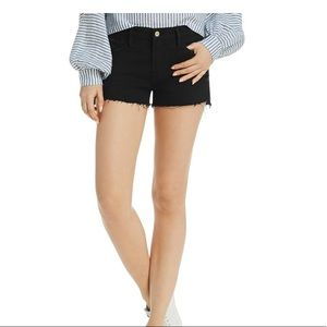FRAME LE Cutoff Shorts in Noir Rookley
